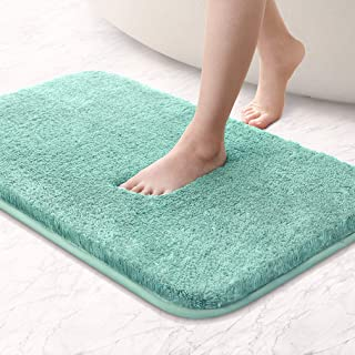 Tappeto Bagno Memory Foam 43x61cm Antiscivolo Facile da Lavare Scendi Doccia Assorbe Velocemente Resistente Soffice Morbido Tappetino Bagno Microfibra Beige