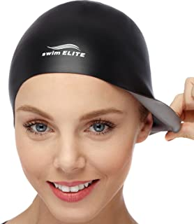 2-in-1 Premium Silicone Swim Cap – Reversible – Wear It On Both Sides –..