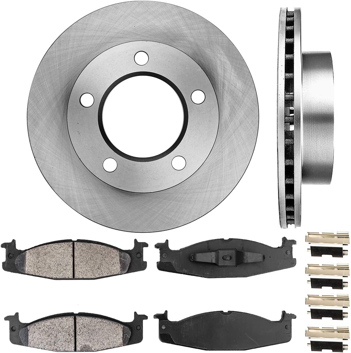 CRK13604 FRONT store 297 mm Premium OE 5 Brake + Super beauty product restock quality top! 2 Rotors Lug Disc