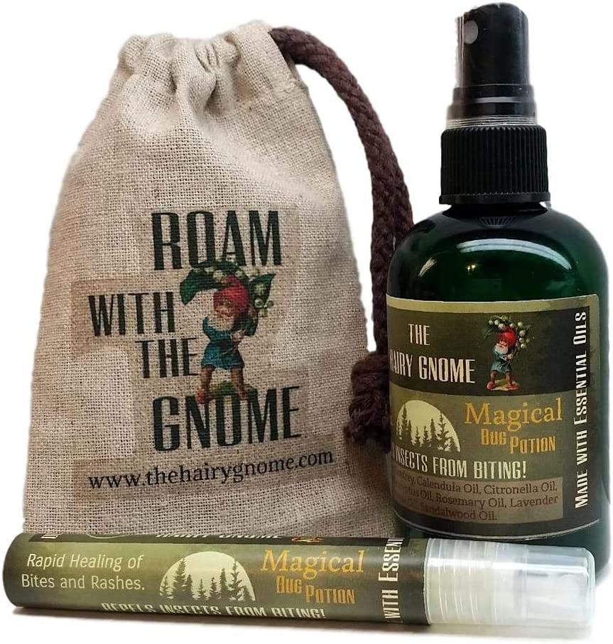 The Hairy San Jose Mall Gnome- Sale Special Price Magical Bug Potion. and Insects in Repels Aids