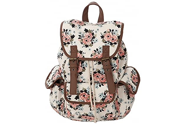 7fcc0414a7 Kenox Canvas School College Backpack bookbags for Girls students women