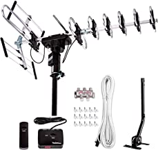 [Newest 2020] Five Star Outdoor Digital Amplified HDTV Antenna - up to 200 Mile Long Range,Directional 360 Degree Rotatio...