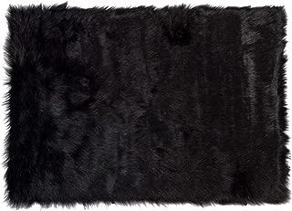 Best faux fur black area rug Reviews