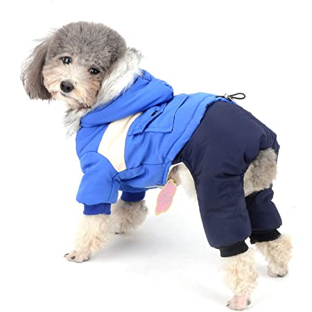 SELMAI Waterproof Dog Winter Coat Solid Color Soft Warm Fleece Pet Clothes for Small Medium Dogs Cats Apparel for Puppy Comfortable Thick Padded Jacket Chihuahua Snowsuit Cold Weather Gray M