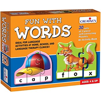 Creative Educational Aids P. Ltd. Fun With Words Puzzle (Multi-Color, 90 Pieces)