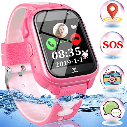Amazon.com: Kids Phone Smart Watch-IP68 Waterproof Kids GPS ...