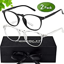 FEIYOLD Blue Light Blocking Glasses Women/Men,Anti Eyestrain Glasses(2Pack)