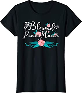 Womens Blessed Poma Mama an Awesome Mother's Day or Christmas T-Shirt