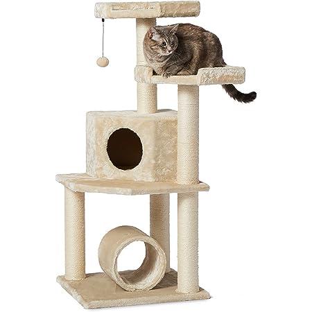 AmazonBasics, Árbol para gato, Cat Tree, Beige A, Beige, X-Grande