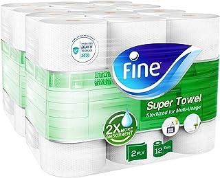 Fine Sterilized Paper Towel - Super Towel, 40 Sheets, Pack of 12 rolls - 1 Units