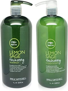 Paul Mitchell Tea Tree Lemon Sage Thickening Shampoo and Conditioner Set, 33.8 oz