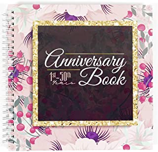 Anniversary Book - A Hardcover Wedding Memory Album To Document Wedding Anniversaries From The 1st To 50th Year - Unique Couple Gifts For Him & Her - Personalized Marriage Presents For Husband & Wife