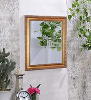 Art Street Royal Decorative Wall Mirror/Looking Glass Gold Inner Size 16 x 24 inch, Outer Size 21 x 29 inch