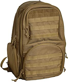 FEAR GEAR Expandable Coyote Ghost Tactical Military Tactical Assault Pack Backpack Army Molle Bug Out Bag Backpacks Small Rucksack for Outdoor Hiking Camping