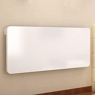 HQCC Computer Desk Paint Side Table White Wall-Mounted Folding Table Dining Table Wall Table 6 Sizes Optional (Size : 80cm40cm)