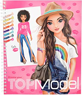 Depesche 10203 Colouring Book Create Your Top Model Multi-Coloured