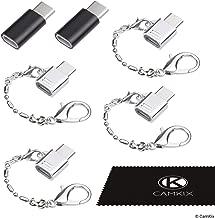 Adaptateur Micro USB vers USB C (4X Compact avec Porte-clés + 2X Normal) - Permet de Charger et de transférer des données