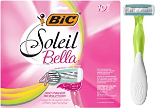 Sponsored Ad - BIC Soleil Bella Sun-Twist Scented Women's 4-Blade Disposable Razor, 10 Count (S4LF10DC-AST)