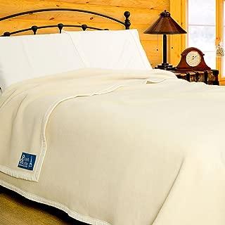 Poyet Motte Aubisque 500GSM Heavyweight 100-Percent Wool Blanket (King, Natural)