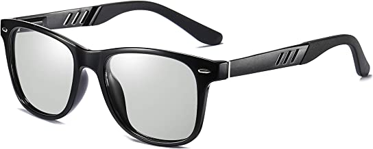 FEISEDY Vintage Polarized Photochromic Sunglasses Men Women 100% UV Protection Outdoor Square Sunglasses B1001
