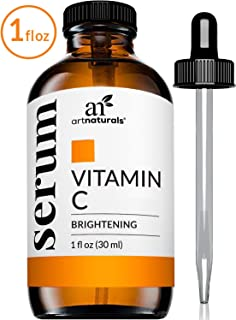 ArtNaturals Anti-Aging Vitamin C Serum - (1 Fl Oz / 30ml) - with Hyaluronic Acid and Vit E - Wrinkle Repairs Dark Circles, Fades Age Spots and Sun Damage - Enhanced 20% Vitamin C