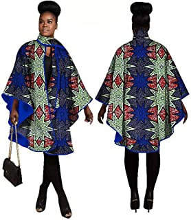 African Women's Traditional Dashiki Printed Cotton Wax Coat Plus Size Fashion Tops for Tribal Festival and All Occasions L...