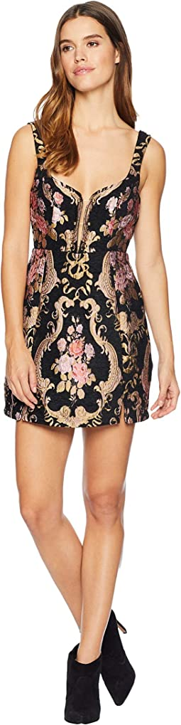 Brocade Tapestry Mini Dress