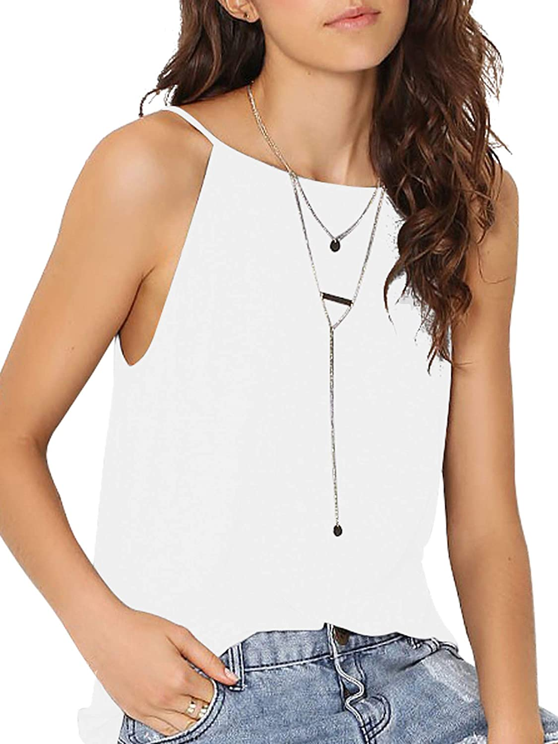 just quella Women Knitted Cotton Camis Tank Tops Tees 6222