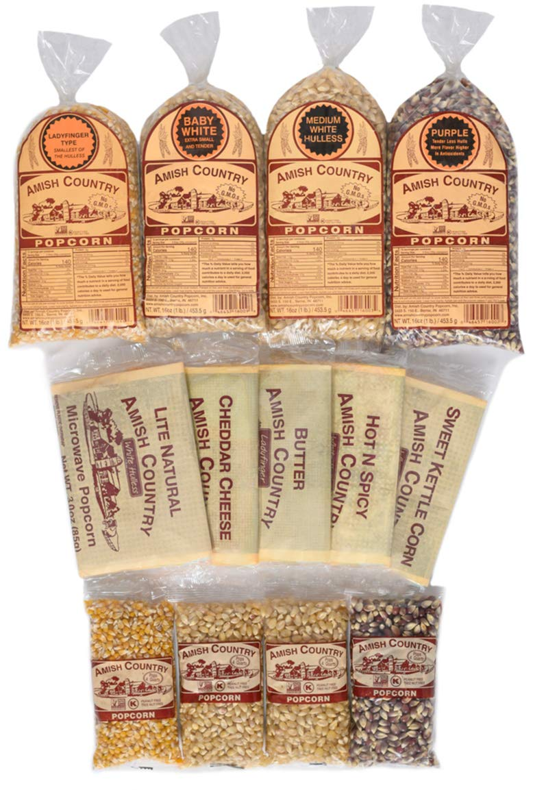 Amish Country Popcorn 4 Ounce Pack Excellent Pound Sampler Today's only 1