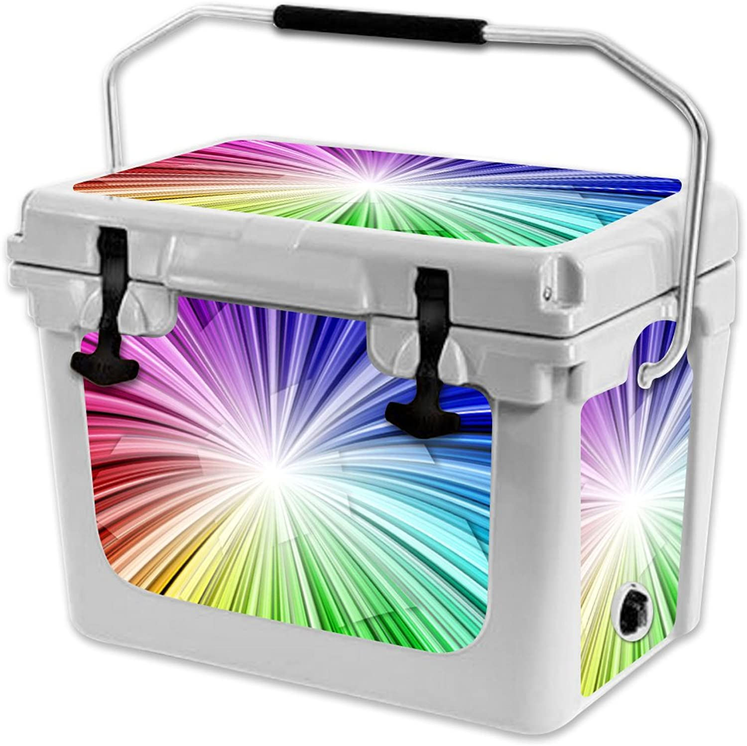 MightySkins Skin Compatible with RTIC 20 Cooler (2017 Model)  Rainbow Explosion   Predective, Durable, and Unique Vinyl Decal wrap Cover   Easy to Apply, Remove, and Change Styles   Made in The USA