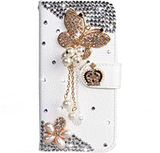 Amocase Diamond Clear Case with 2 in 1 Stylus for Samsung Galaxy S10 Plus,Luxury Girly 3D Handmade Gemstone Soft Rubber Bumper Ring Stand Holder Bling Case with Crystal Neck Lanyard Pink