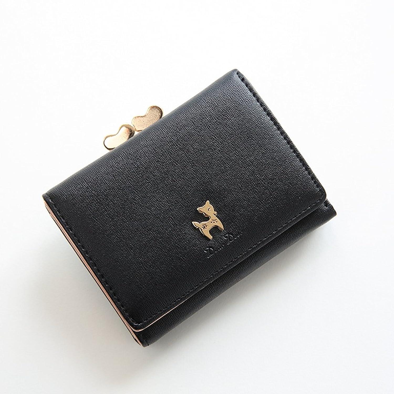 小さい財布  がま口付き  カワイイ  レザー  コンパクト  ウォレット  母の日プレゼント カード小銭入れ  金運アップ 女性用 友達  家族にプレゼント 多機能  シンプル  上品  優雅 ピンク ブルー ブラック