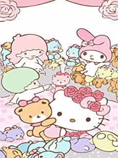 Twenst Hello Kitty Paint by Numbers for Adults DIY Painting by Numbers Kits for Living Room Bedroom Decoration 16 x 20