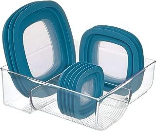 iDesign Plastic Kitchen Binz Food Container Lid Storage Organizer for Cabinet, Pantry, Countertop, 11.49
