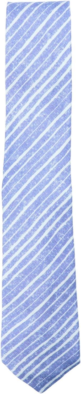 Kiton Napoli Men's Silk and Linen Diagonal Striped Necktie