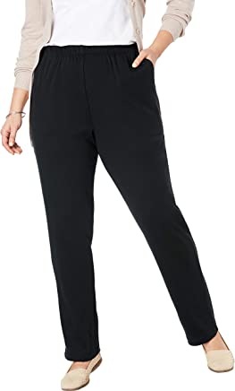 Woman Within Women's Plus Size Petite 7-Day Knit Straight Leg Pant