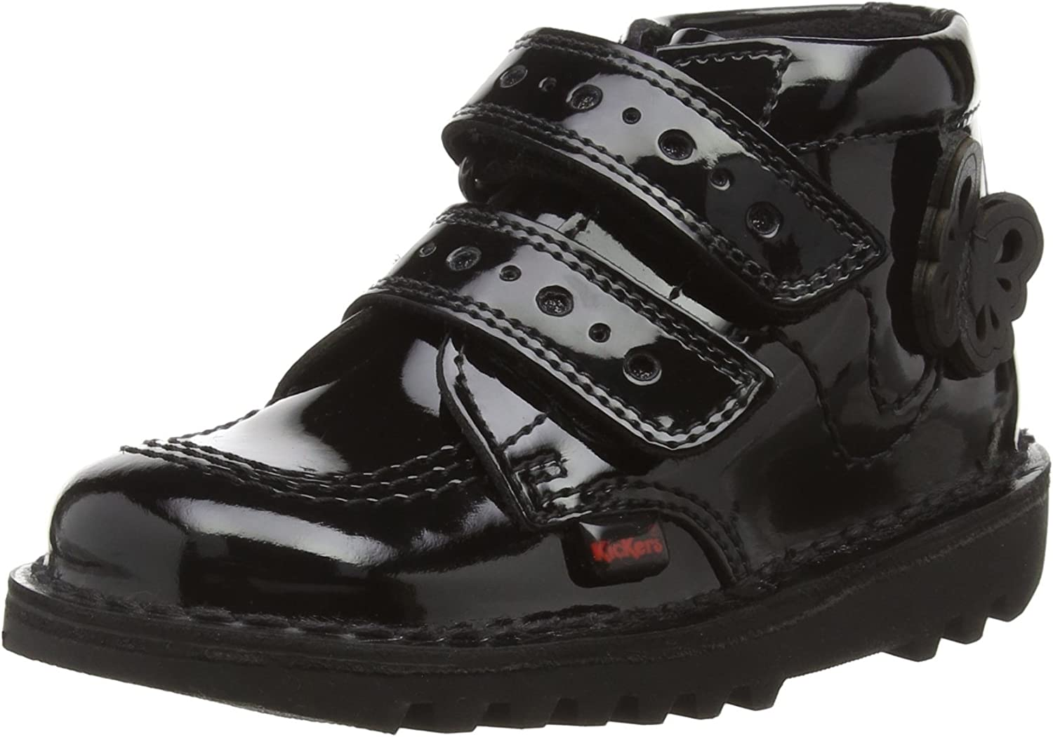 Kickers Kick Flutter discount I Black Ankle Patent Bombing free shipping Boots Infant
