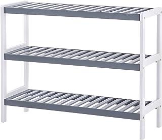 SONGMICS Zapatero de bambú Estantería con 3 estantes Organizador para Zapatos 70 x 26 x 55 cm (La x An x Al) Ideal par...