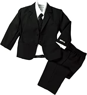 Spring Notion Baby Boys' Classic Fit Formal Black Dress Suit Set