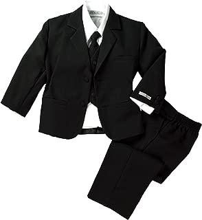 Spring Notion Baby Boys' Classic Fit Formal Black Dress Suit Set