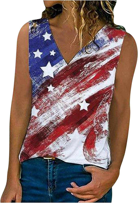 AODONG Womens Tank Tops, Womens Fashion Graphic Printed Vest Tshirt Sleeveless Blouse Casual Summer Tank Top Tunic Tee