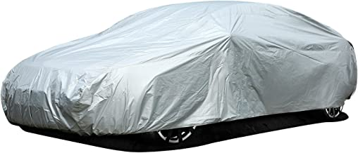 Ohuhu Car Covers for Sedan Outdoor Indoor, Sedan Auto Vehicle Cover Windproof Dustproof Scratch Resistant Outdoor UV Protection Universal Full Size Car Covers for Sedan L (191''-201'')