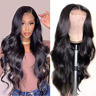 Lace Front Wigs Human Hair Wigs for Black Women Brazilian Virgin Hair Body Wave Lace Closure Wigs Pre Plucked with Baby Ha...