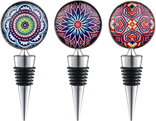 Sunbright Wine Stoppers - Cool Gifts for Wine Lover, Holiday Party,Wedding, Birthday, Set of 3