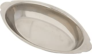 Winco Stainless Steel Oval Au Gratin Dish, 20-Ounce