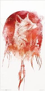 Culturenik Robert Farkas Red Fox Dreamcatcher Collage Modern Contemporary Animal Decorative Art Print (Unframed 12x24 Poster)