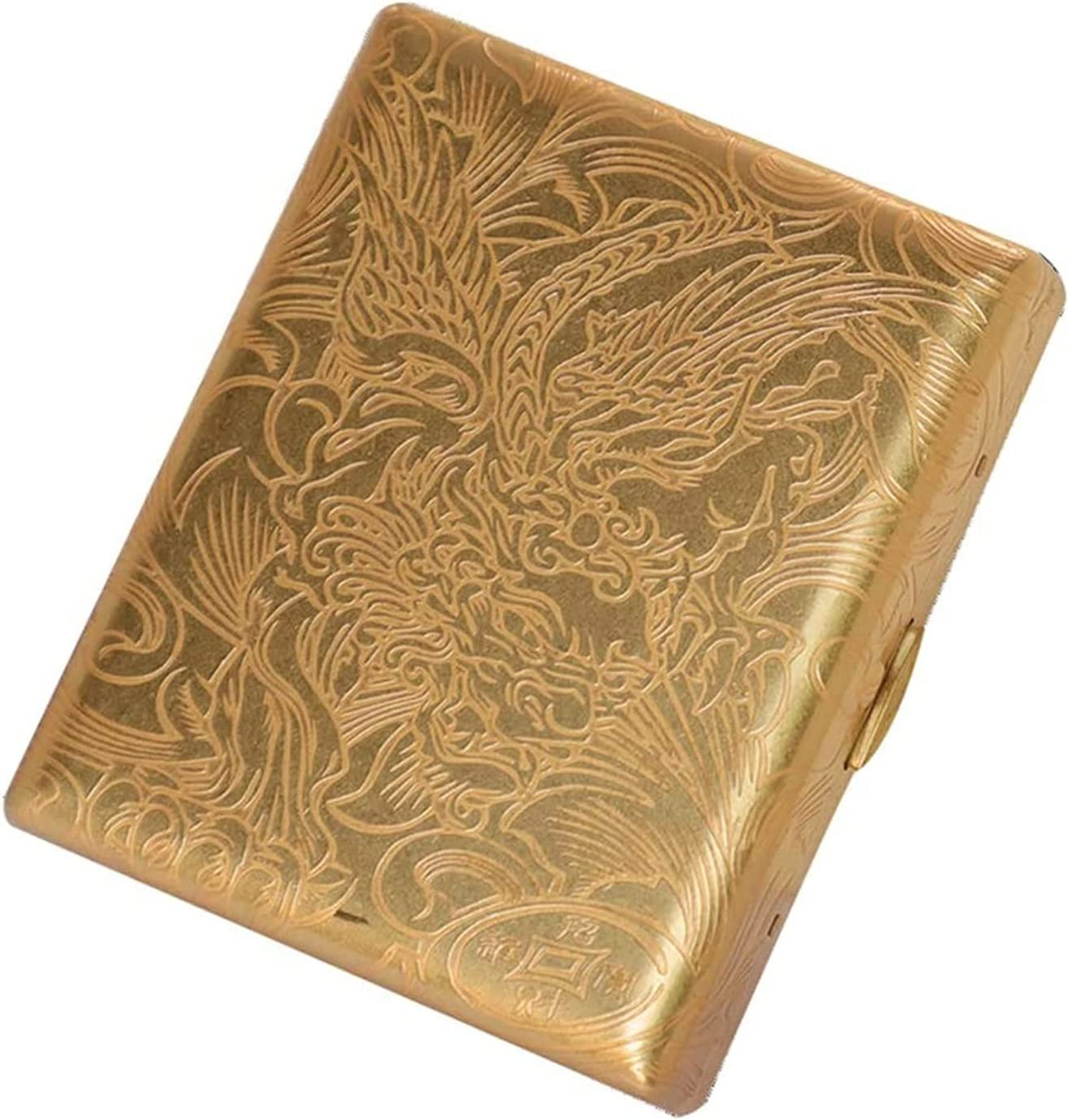 New Orleans Mall ZXNRTU Pure Shipping included Copper Metal Cigarette Holder Case Box Large Capacit