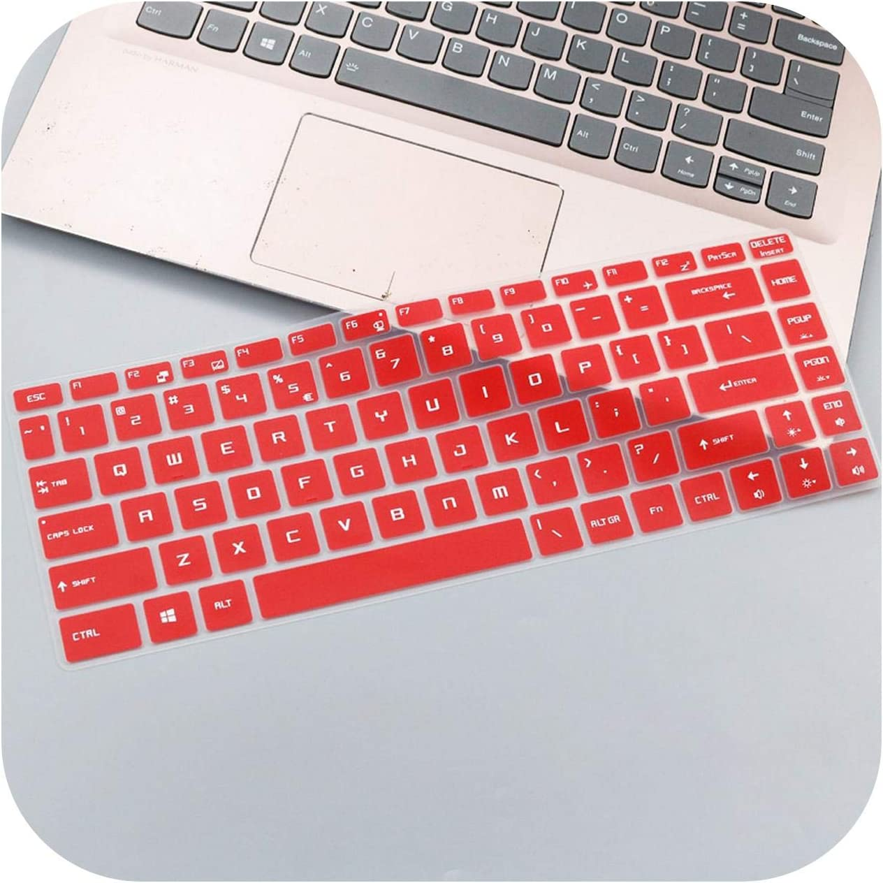 15,6 pulgadas Gaming Laptop Keyboard Keyboard Keyboard Skin Cover for 15.6 Msi Gs65 Gf63 P65 Ps42 Ps63 8Rd 8Re 8Rb 8Rcx 8Re 014Cn talla /única negro