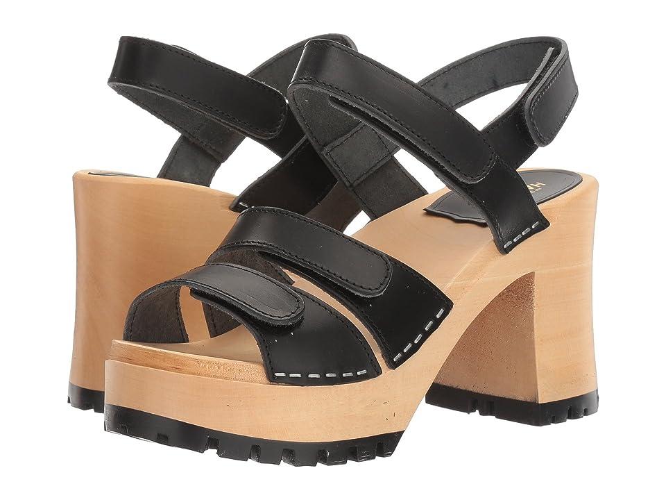 Swedish Hasbeens Velcra (Black 1) High Heels
