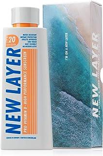 NEW LAYER solkräm | LSF 20 | Pro Vitamin D | Fri från mikroplast | Revvänlig | Fri från oktocrylener | Vattentålig (200 ml)